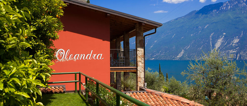 Villa La Gardenia & Oleandra, Limone, Lake Garda, Italy - exterior with view in background.jpg